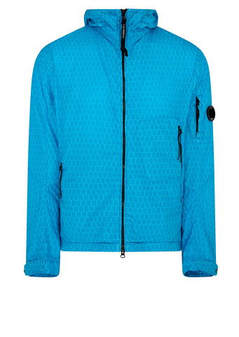 Air-Net Lightweight Hooded Jacket in Ocean Blue