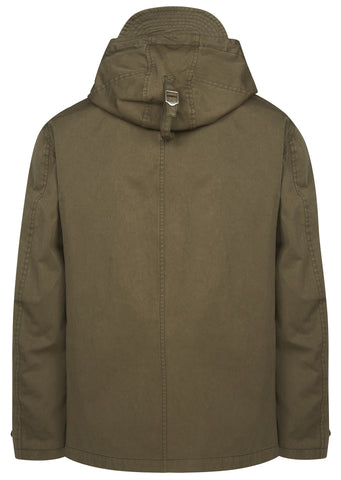 Navy Parka in Green