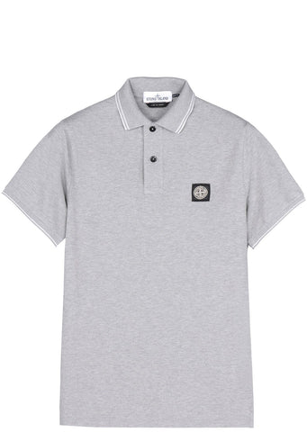 SS17 Cotton Piquet Short sleeve Polo Shirt in Grey