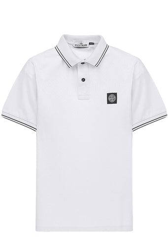 SS17 Cotton Piquet Short sleeve Polo Shirt in White