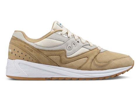 SS17 Heritage Grid 8000 Sneaker in Tan / Light Tan
