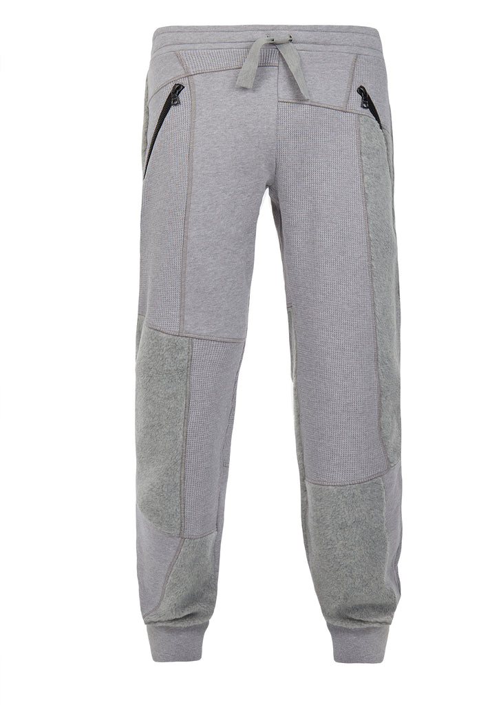 AW17 Panelled Cotton Sweatpants in Grey