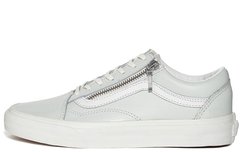 SS17 UA Old Skool Zip Sneaker in Off White/ White