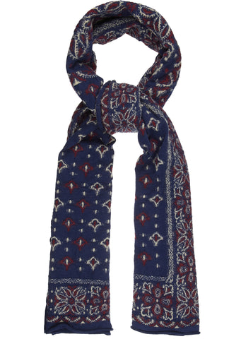 SS17 Compressed Wool Scarf in Navy