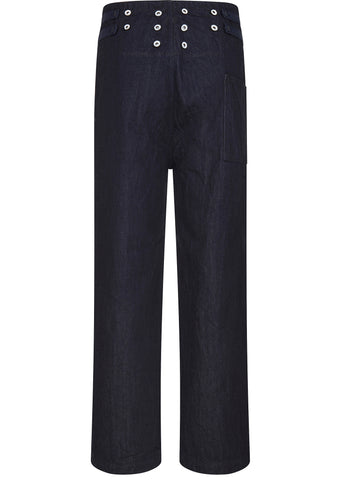 SS17 120z Denim 7 Star Suspender Pants in Indigo