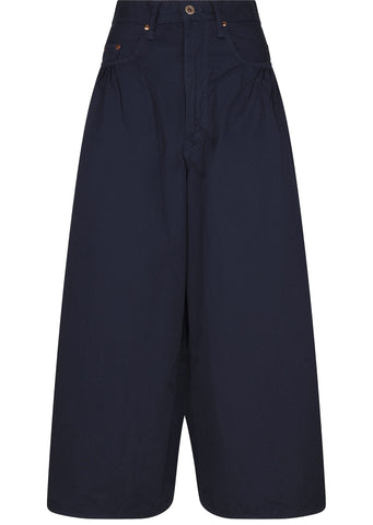 SS17 Wide Leg Hakama Pants in Navy