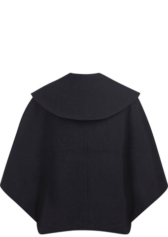 SS17 Vintage Melton Wool Duffle Bolero Coat in Navy