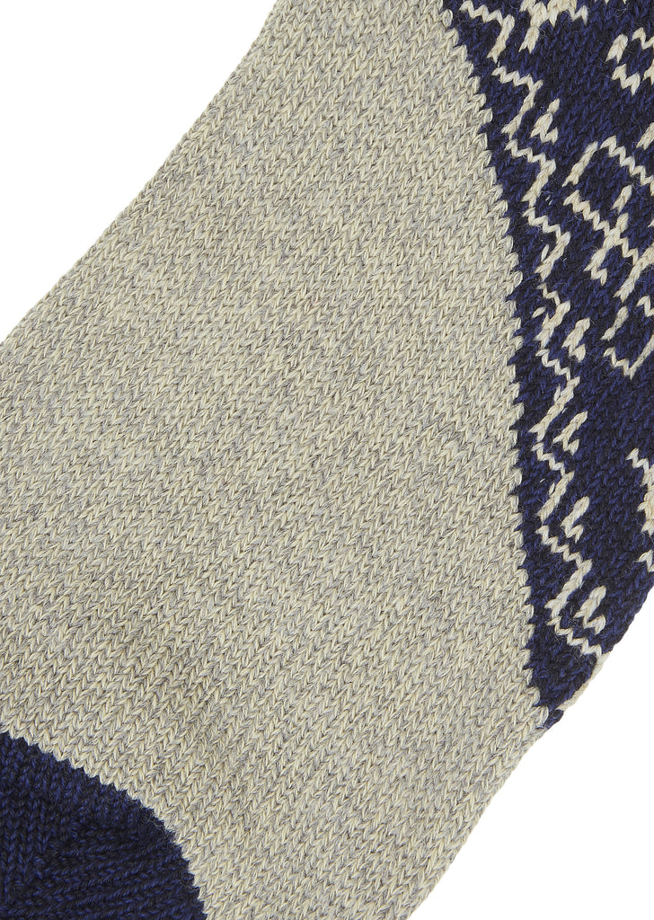 Kapital 56 Yarn Heel 2-Tone Socks in Navy