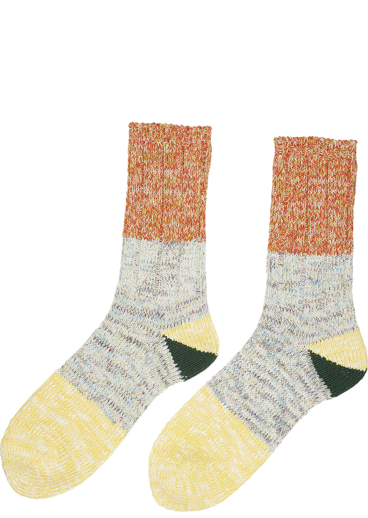 SS17 56 Yarn 2-Tone Socks in Yellow
