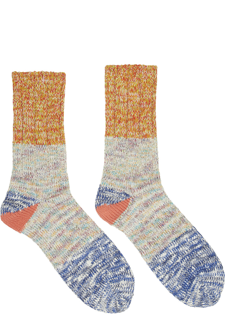 SS17 56 Yarn 2-Tone Socks in Blue