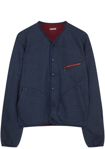 SS17 Idg Fleecy Knit Tylden Cardigan in Blue