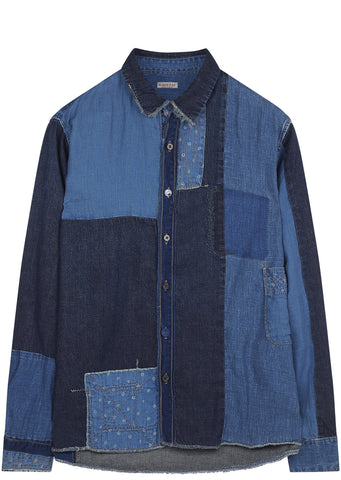 SS17 Indigo Patch Katmandu Shirt in Blue