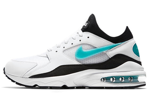 SS18 Nike Air Max 93 in White / Sport Turquoise (306551-107)