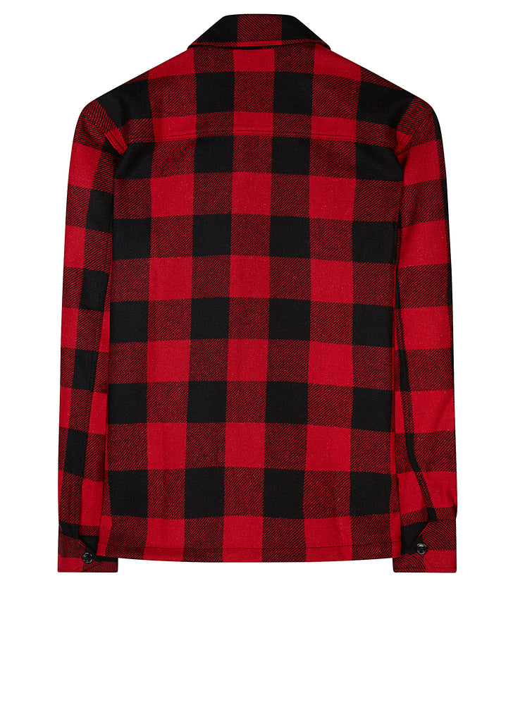 AW17 Plaid Wool Shirt in Red