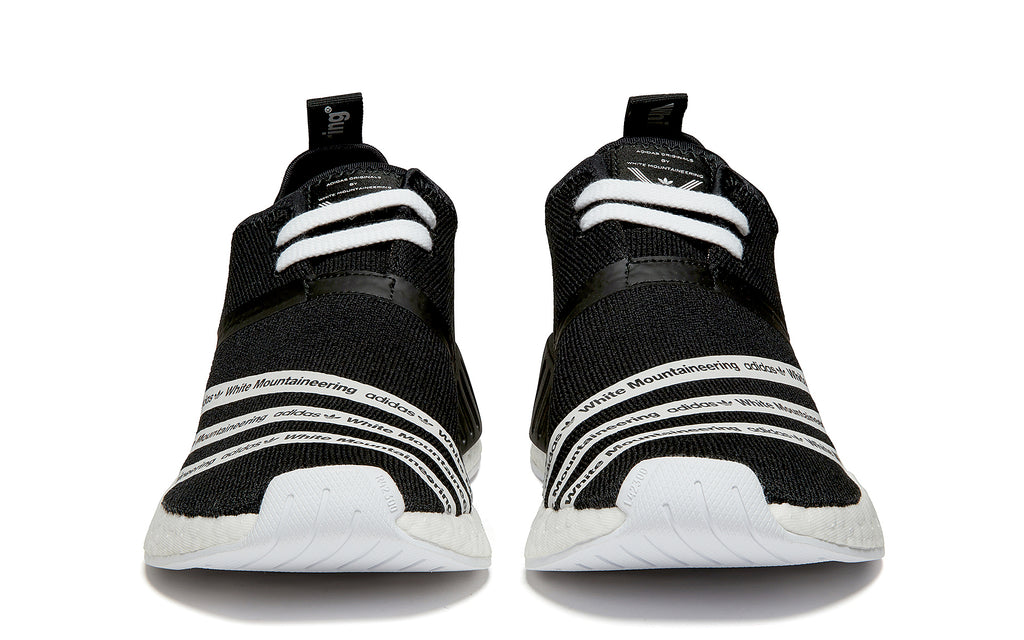 adidas x White Mountaineering NMD_R2 Primeknit in Black (CG3648)