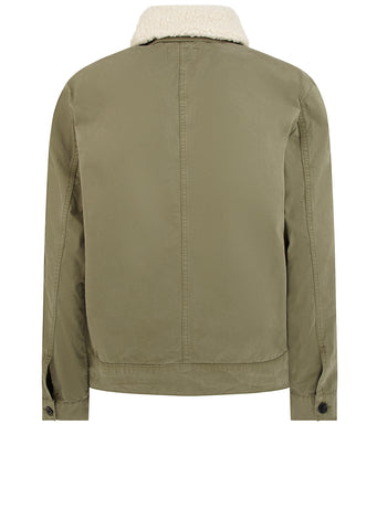 Sherpa Collar Jacket in Green