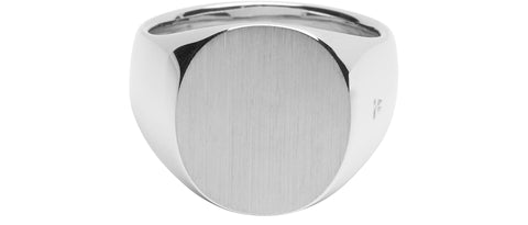Oval Satin Ring in Premium Sterling Silver