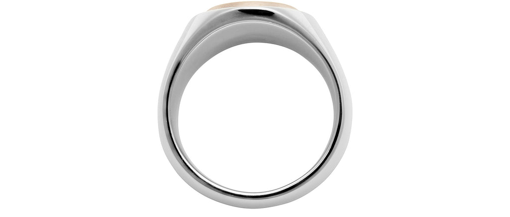 Oval Rose Gold Top Ring in Premium Sterling Silver