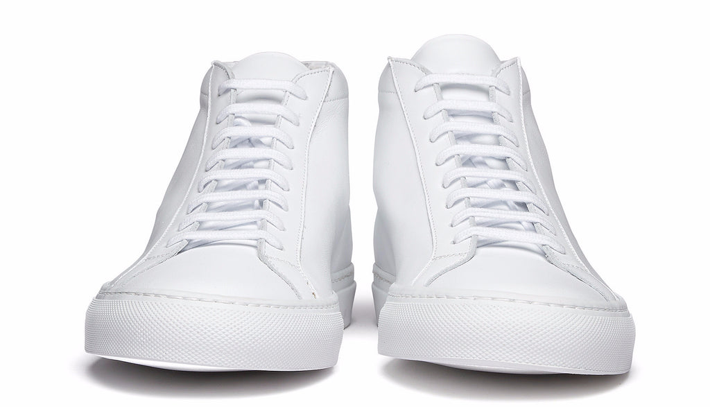 Original Achilles mid leather sneaker in white
