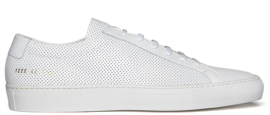 Original Achilles Low perforated leather court shoe in white