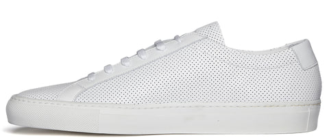 Original Achilles Perforated Leather Sneaker in White