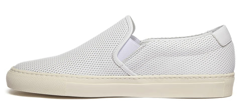 Slip On Leather Sneaker in White