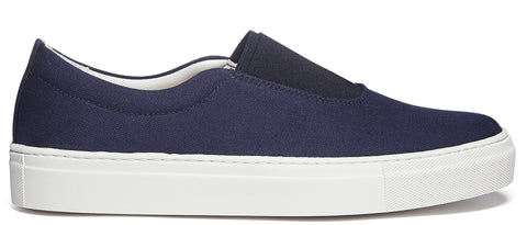 Basal Canvas Sneaker in Navy Blue