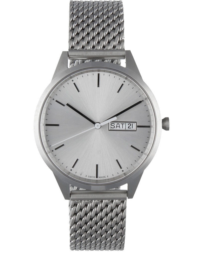 C41  Milanese Mesh Bracelet Watch in Grey