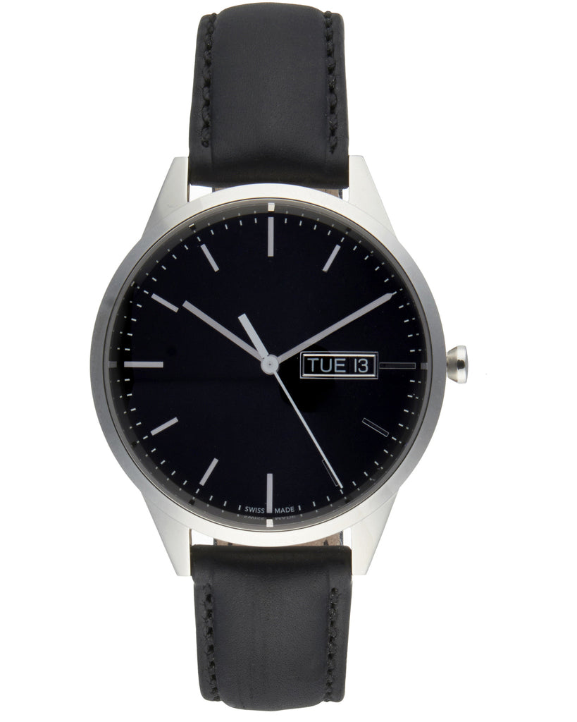 C40 Day-Date Watch in Polished Steel