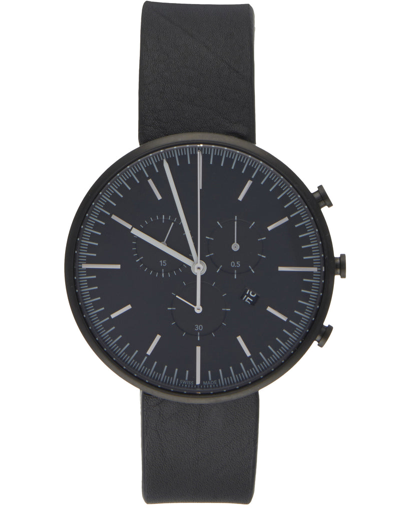 M42 Chronograph Watch in PVD Black