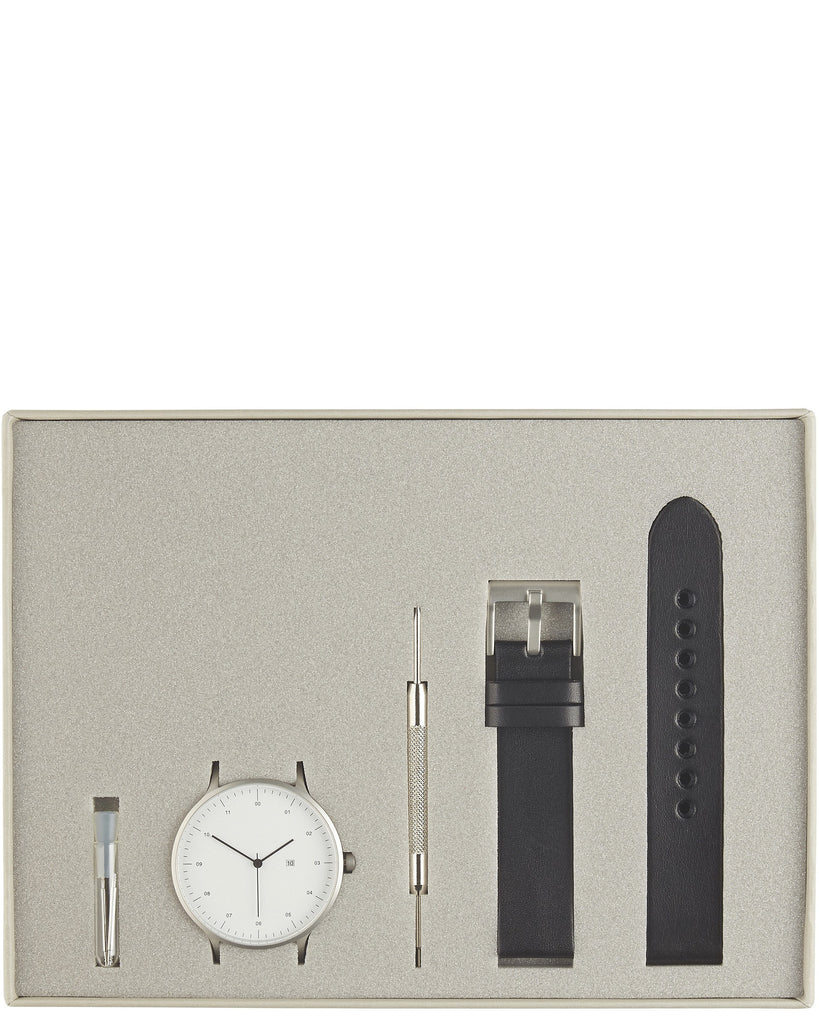 01-C Watch in Silver and Black