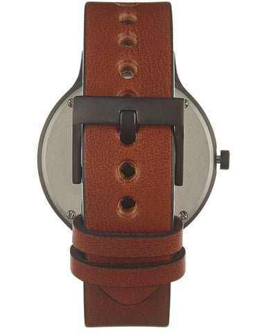 01-A Watch in Gun Metal and Tan