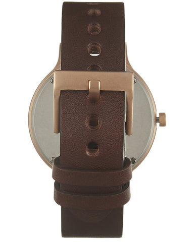 01-B Watch in Rose Gold and Brown