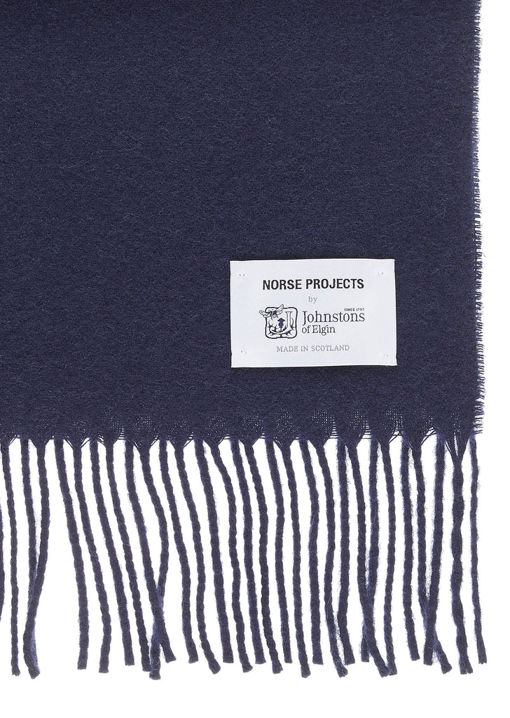 Lambswool Scarf in Navy