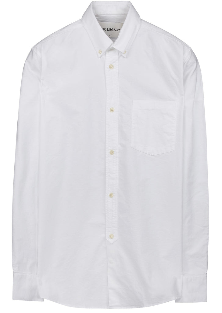 1940s Oxford Shirt in White