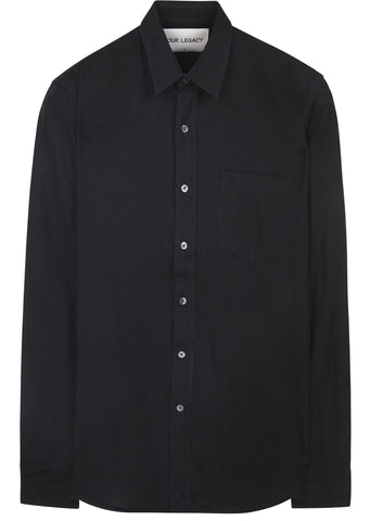 Silk Classic Shirt in Black