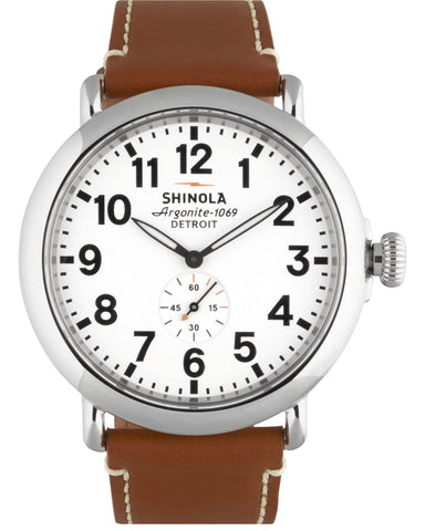 Runwell 47mm Watch in White & Brown
