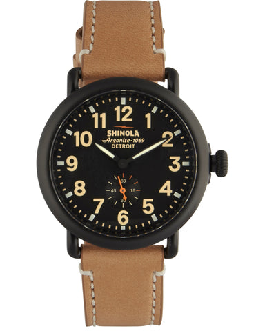 Runwell 41mm Watch in Natural & Black