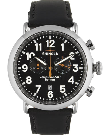 Runwell 47mm Chrono Watch in Black