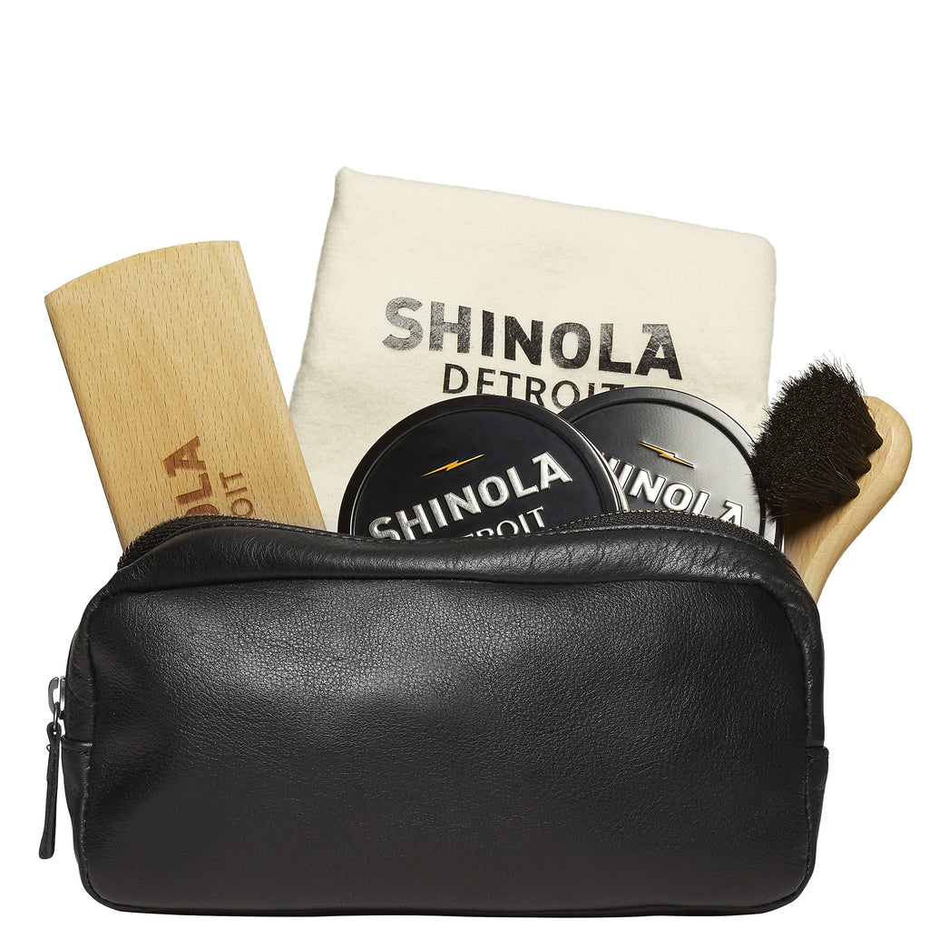 Leather Care Travel Kit in Black