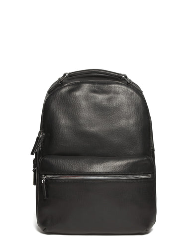 Runwell Horween Leather Backpack in Black
