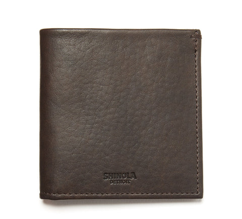 Bi-Fold Leather Wallet in Brown