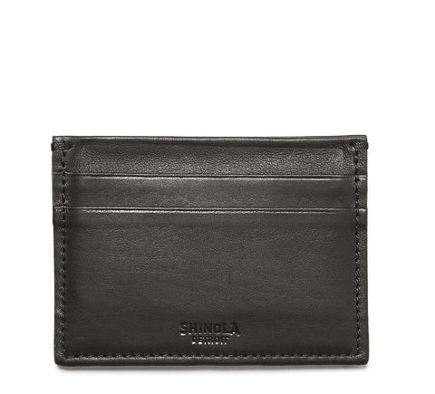 Leather 5 Pocket Card Case in Black