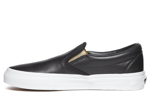 Slip-On Sneaker in Black/Gold Metallic
