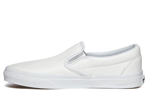 Slip-On Sneaker in White/Silver