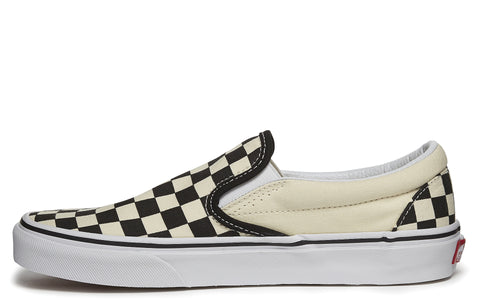 Slip-On Sneaker in Black White Checkerboard