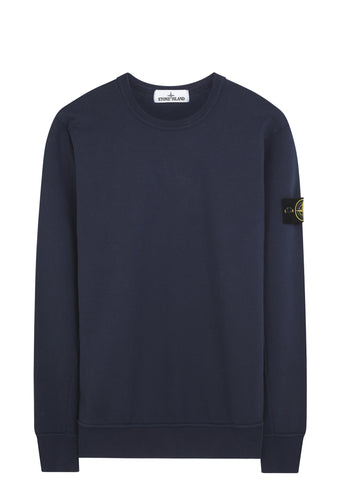 SS17 Garment Dyed Crewneck Sweatshirt in Marine Blue