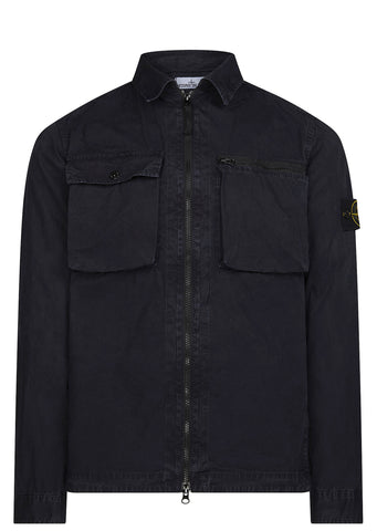 SS17 Cotton Tela 'Old' Effect Over Shirt in Navy