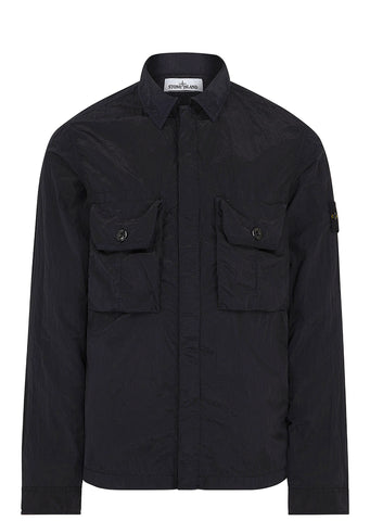 SS17 Nylon Metal Overshirt in Navy