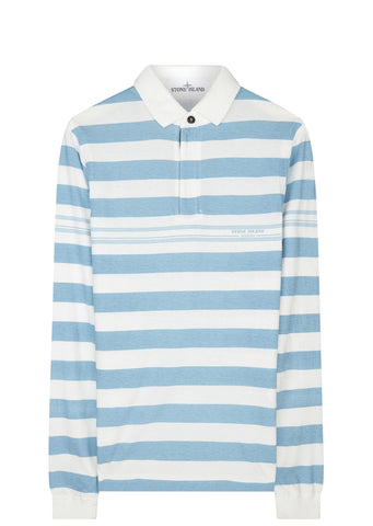 SS17 Marina Stripe Polo Shirt in Blue